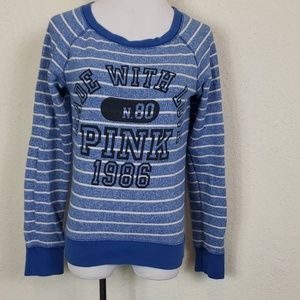Pink Victoria secret blue sweater size medium